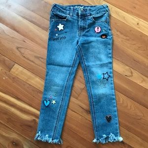 Girl's crop/ankle jeans